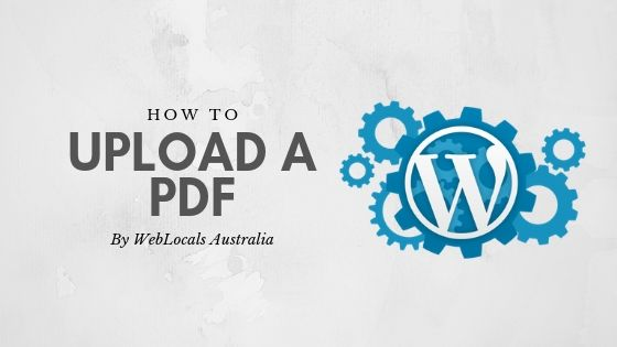 How To Upload a PDF
