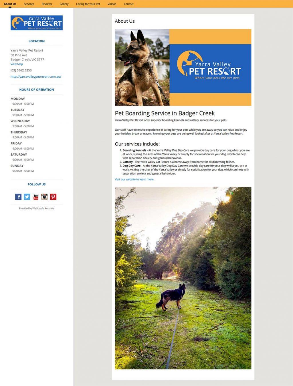 WebLocals_Citation_Yarra_Valley_Pet_Resort_About